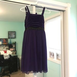 Beautiful purple girls dress
